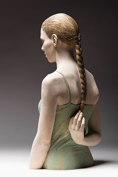 Bruno Walpoth - Ricordi d'infanzia - cm. 76 x 41 x 28 - 2012... amazing figurative wood sculptures