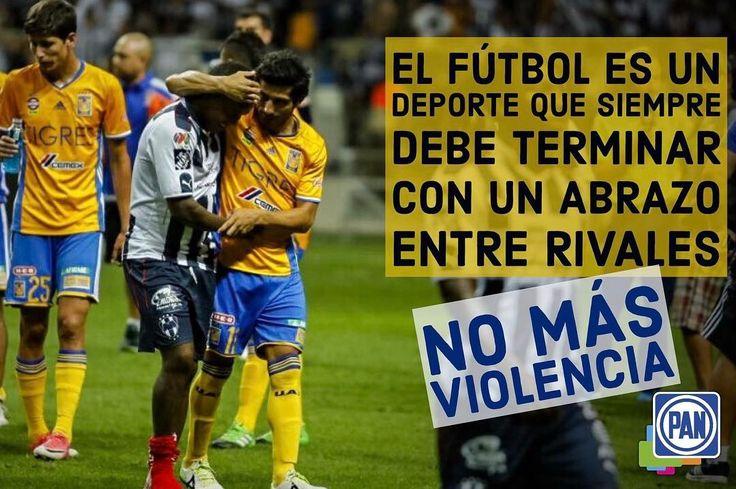 El respeto siempre debe ser nuestra bandera.  #NoMásViolencia #photo #Mty #Tigres #Rayados #clasicoregio #clasico #noalaviolencia #México #NuevoLeón #photo #photooftheday
