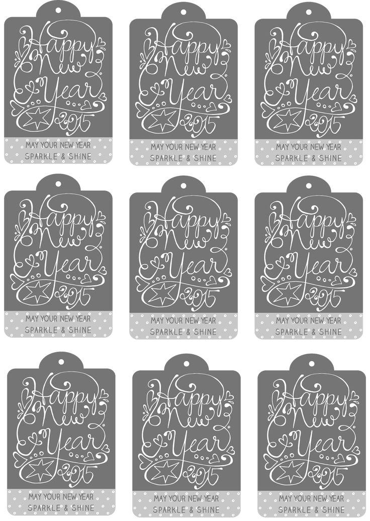 Freebie - Geschenkanhänger für die Silvesterfeier - Flaschenanhänger - free printable - download