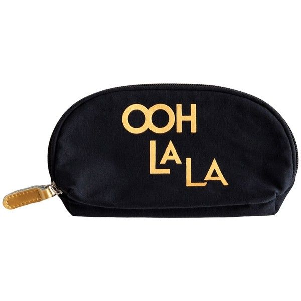 Rosanna Inc. Jazz Age Ooh La La Cosmetic Bag ($24) ❤ liked on Polyvore featuring beauty products, beauty accessories, bags & cases, multi, make up bag, wash bag, toiletry kits, toiletry bag and travel bag