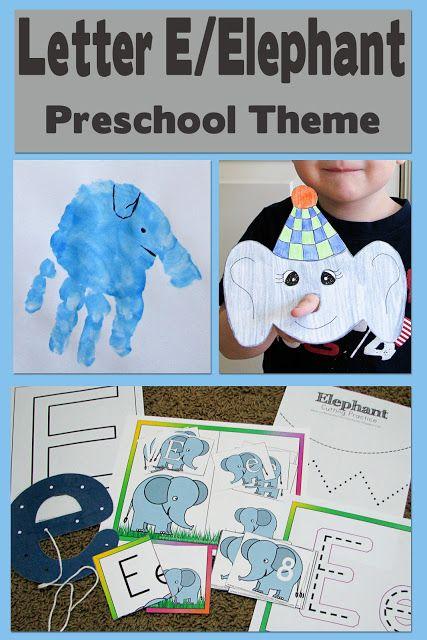 Mommy's Little Helper: Letter E/Elephant Preschool Theme @Chantel Waterbury Waterbury Christensen Tucker