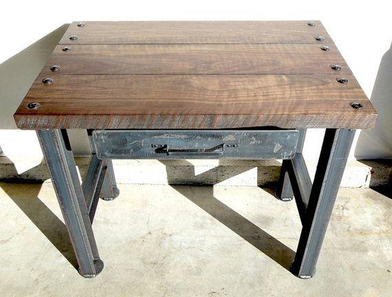 vintage industrial desk modern industrial rustic retro. Black Bedroom Furniture Sets. Home Design Ideas