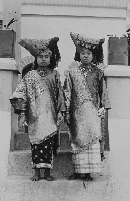 Traditional costumes. Minangkabau culture. West Sumatra Indonesia