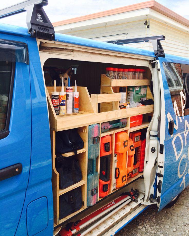 Ply storage carpenter eine Idee wie man das Auto sinnvoller ausbauen könnte, als mit vorgefertigten Aluregalan