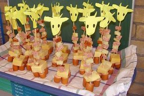 giraf: cute idea for a birthday treat at school