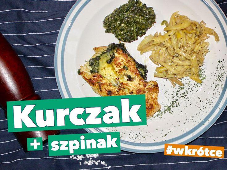 Kurczak ze szpinakiem i fasolką #chicken #kurczak #food #streetfood #fastfood #slowfood #health #inspiracje #kulinarne