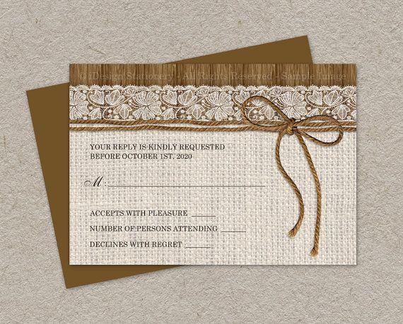 #Rustic #Wedding RSVP Card, DIY Printable Wedding Response Card by iDesignStationery, $5.95