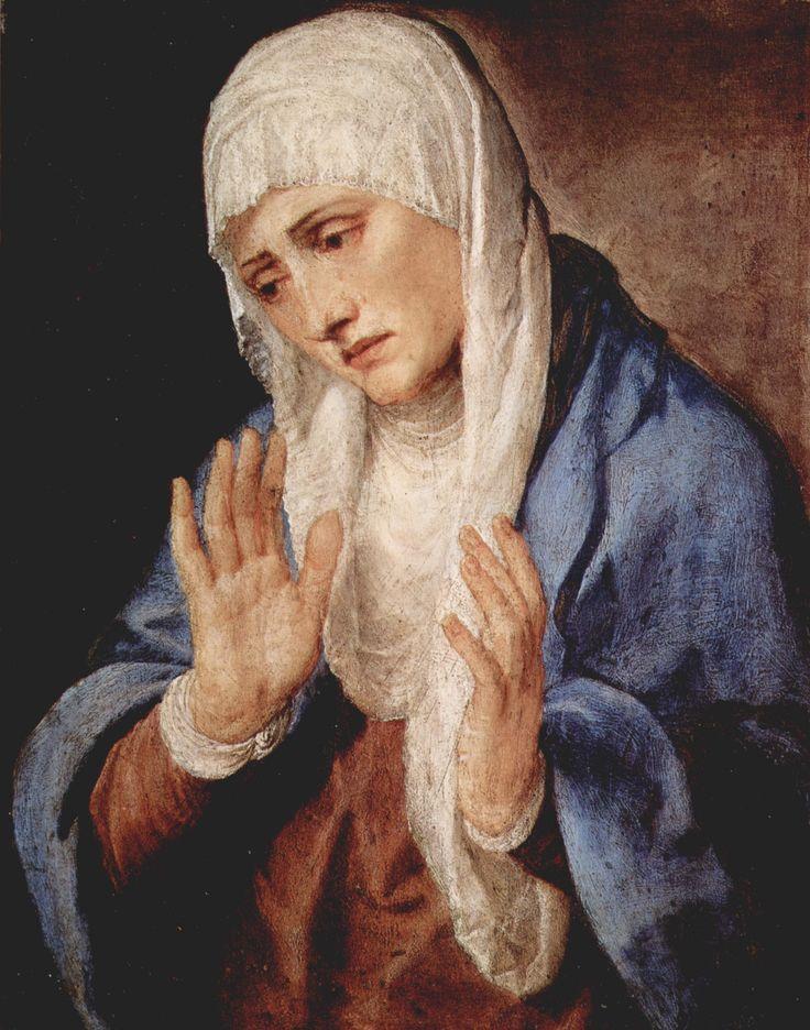 Titian - Sorrows, 1554, oil on panel, 68 x 53 cm