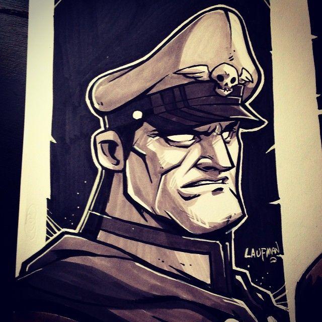Inktober Day 27: M. Bison by DerekLaufman.deviantart.com on @deviantART