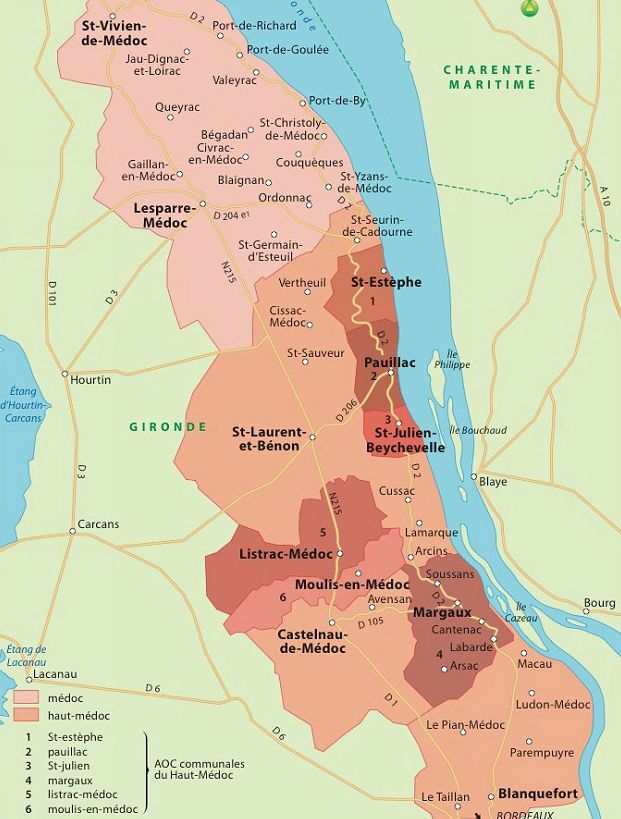 Pau Map%0A HautM  doc  France  wine map http   www weinwelt