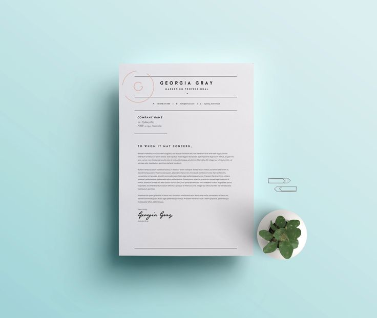 Resume 2 Page CV Template Cover Letter for by TheTemplateDepotAU