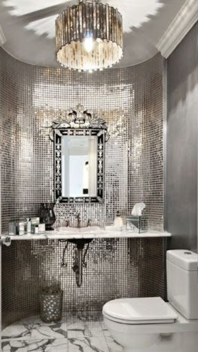 Luxury Silver Bathroom Luxurydotcom  My Top Pins1