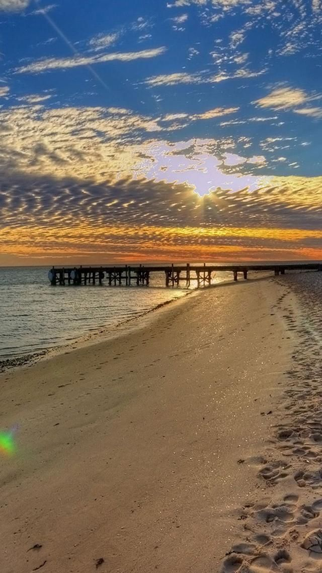 Monkey Mia, Beach, Sunrise, Western Australia,