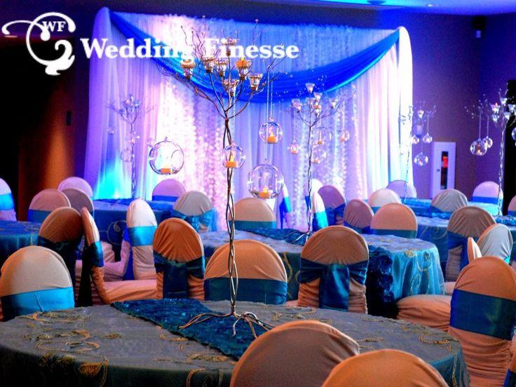 Blue and White Wedding Decor, perfect for a Winter Wonderland Wedding.