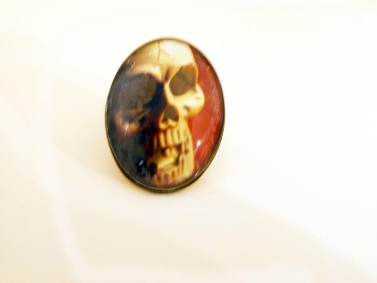 Human Skull Ring - Skull Ring - Human Skull - Skull - Skulls - Human Skull Art - Human Anatomy - Jewelry - Unique - Adjustable Ring by RainsWonderland on Etsy