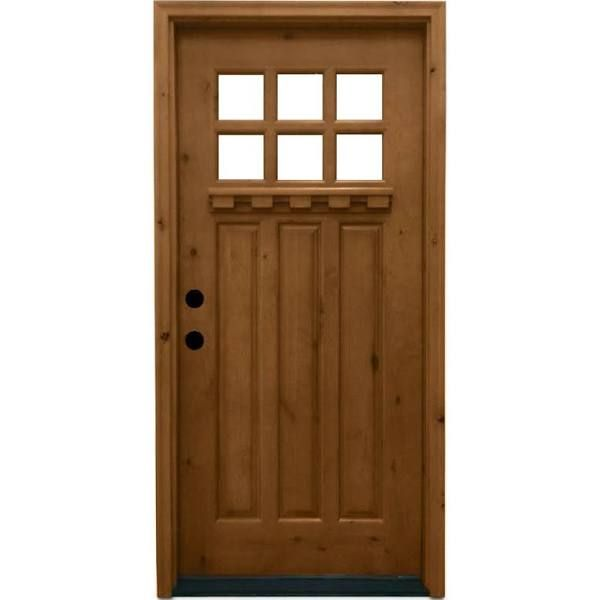 Best 25 craftsman front doors ideas on pinterest front for Lowes exterior doors