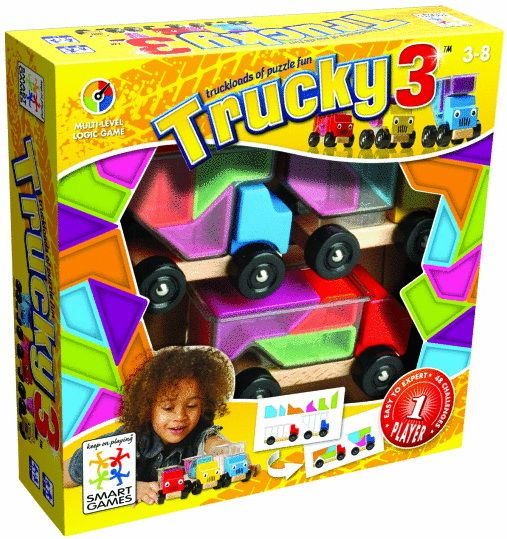 Transportez les pièces de couleur ! Les 3 camions Groseille, Citron et Pruneau sont en chemin vers leur prochaine destination. Ils doivent transporter des affaires, mails ils ne savent pas si elles tiendront toutes dans leurs bennes transparentes. Pouvez-vous les aider à tout emporter?Bahuts Malins est un jeu de réflexion évolutif qui suivra les progrès accomplis par votre enfant.Il considérera d'abord les camions en bois comme des jouets qu'il pourra remplir et déplacer. Ensuite, il voudra…