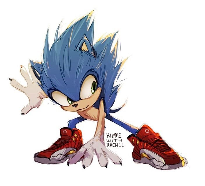 My Take On Realistic Sonic He Wears Baby Jordans Sonic Classic Sonic Sonic The Hedgehog