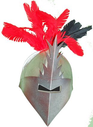 Grand casque de chevalier blanc - Tête à modeler