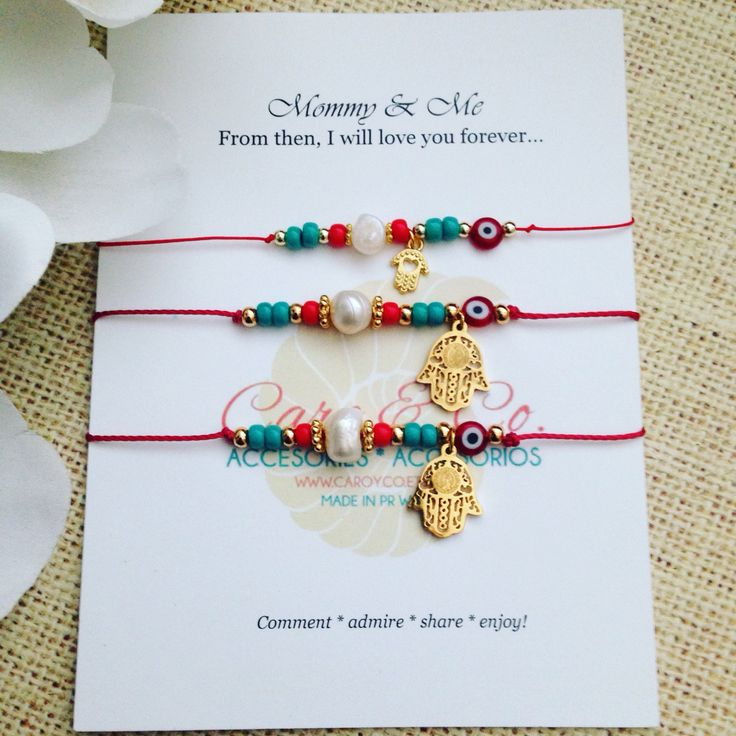 Mother, daughter and granddaughter bracelet set. Generations hamnsa set. Custom orders available @ www.caroaccessories.etsy.com