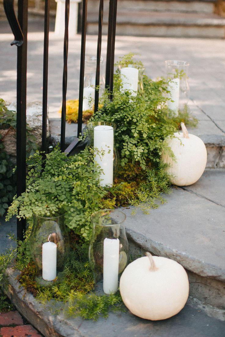 Fall Pumpkin wedding Decor | The More We See Photography   #whitepumpkins #fallweddingdecor