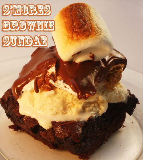 S'mores brownie sundae