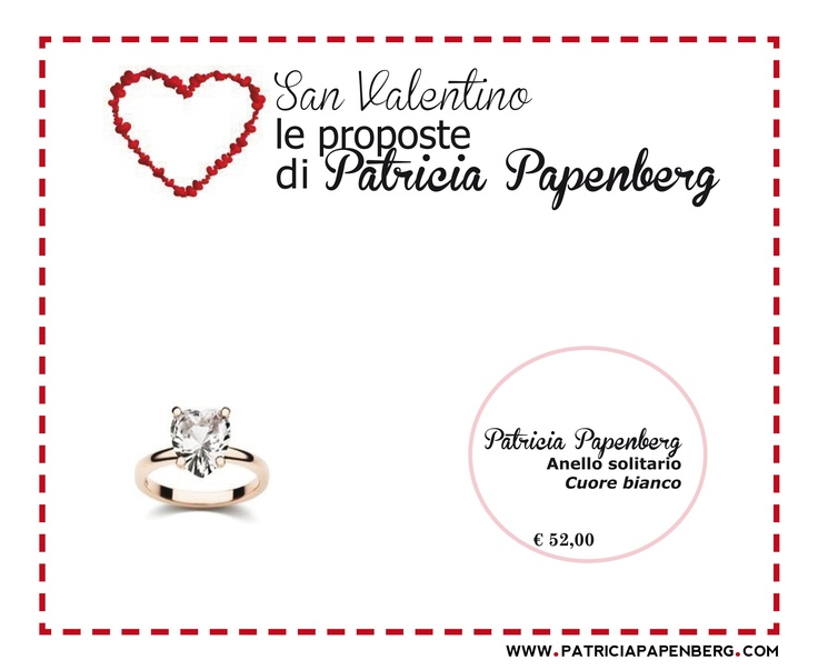 Anello Solitario Patricia Papenberg 'Cuore bianco'  http://www.patriciapapenberg.com/it/ring-solitaire-patricia-papenberg-white-hearth-small  #anello #ring #jewels #gioielli