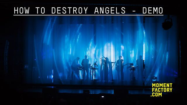 www.momentfactory.com  ***  For his newest musical project, Trent Reznor put his trust again in Moment Factory for the first tour of How To Destroy Angels (HTDA). Their tour stopped in Vegas, San Francisco, Chicago, Toronto and at the Coachella Music Festival. The public saw an innovative and dynamic set design created under the guidance of the band's vision and in collaboration with Rob Sheridan (HTDA & Nine Inch Nails art director)