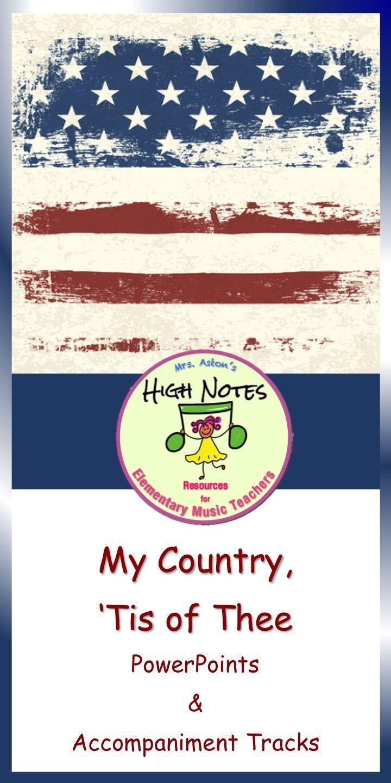 patriotic powerpoint america my country tis of thee patriotic