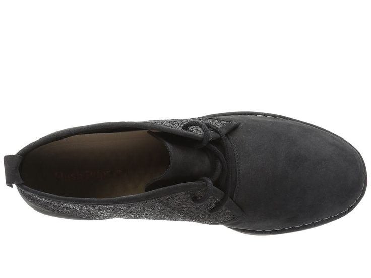 Hush Puppies Cam Catelyn Women's Lace-up Boots Black Glitter Nubuck