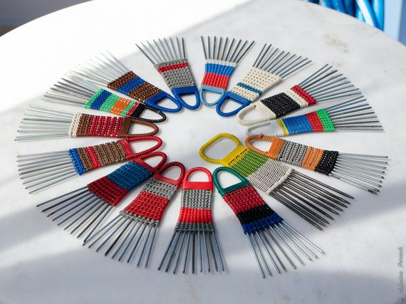 African Hair comb  vintage 70s metal and plastic by UberdenTraum, €2.50