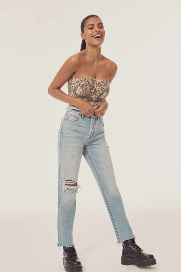 5d08e8d8 BDG High-Rise Slim Straight Jean - Distressed Light Wash in 2019 ...