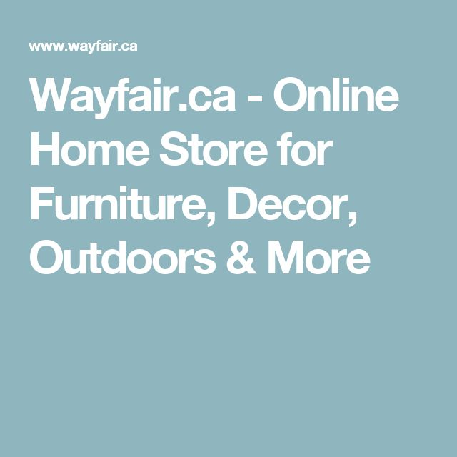 Wayfair.ca - Online Home Store for Furniture, Decor, Outdoors & More