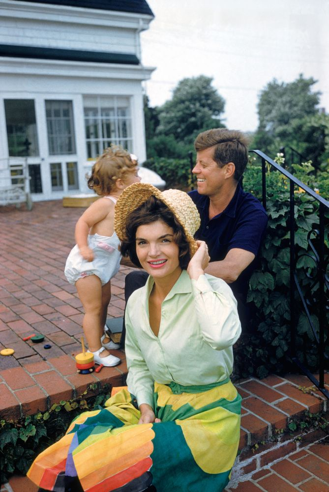 Jackie Kennedy and her family in Hyannis Port