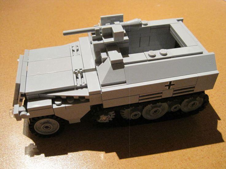 "Lego WW2 GERMAN Vehicle HALFTRACK ""2 in 1"" Kit Sd. Kfz. 250/9 & 250/10 Tank NEW"