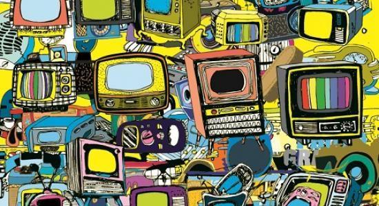 Vintage TV Mural