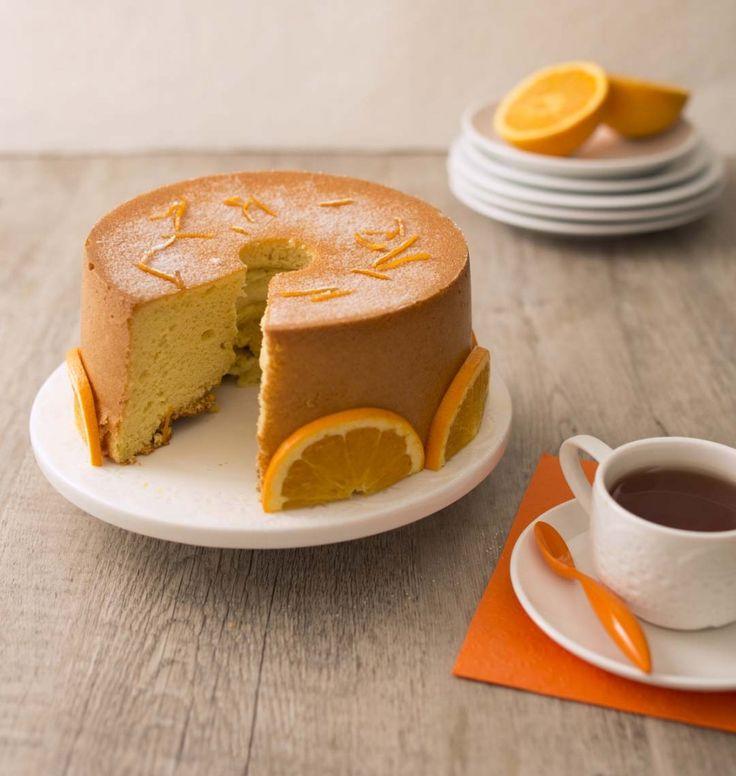 Chiffon cake à l'orange - les meilleures recettes de cuisine d'Ôdélices