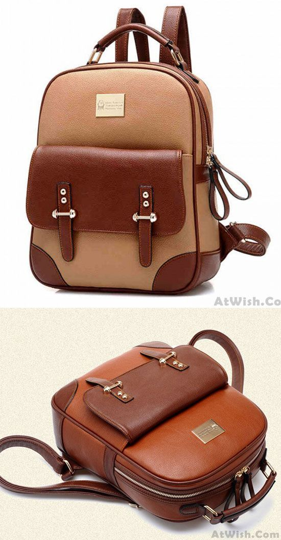 New British Style Retro Leather Backpack for big sale ! #retro #leather #backpack #school #college #bag