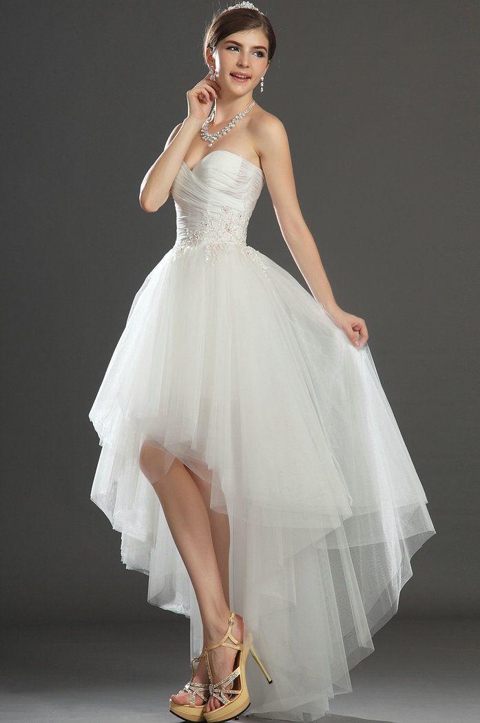 128 best bridal hi low gowns images on pinterest short for High low wedding dresses for sale