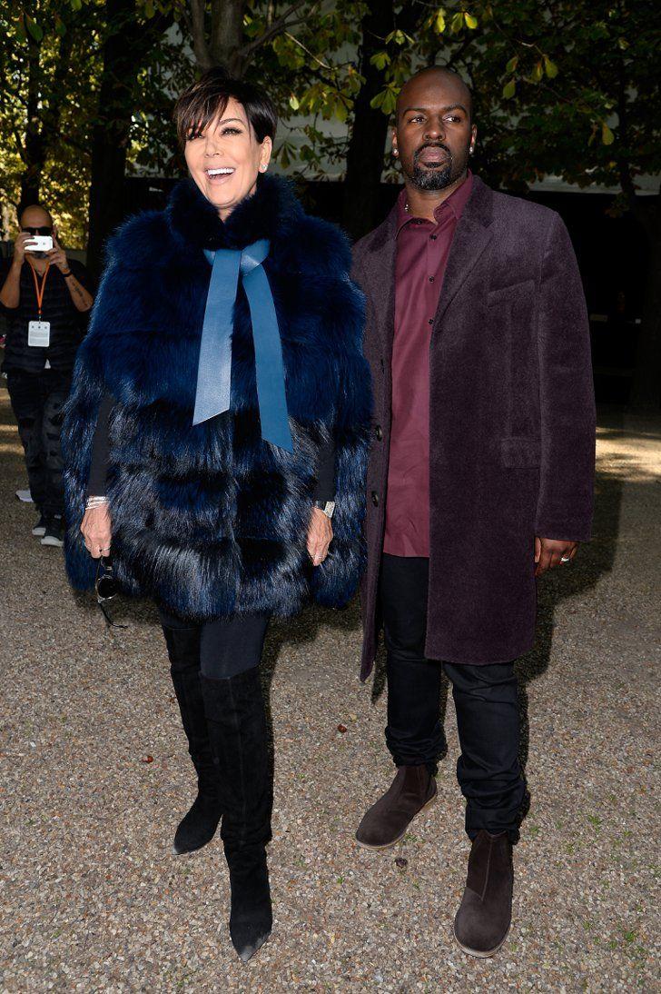Pin for Later: Les Célébrités Se Bousculent à la Fashion Week de Paris Kris Jenner and Corey Gamble Au défilé Elie Saab.