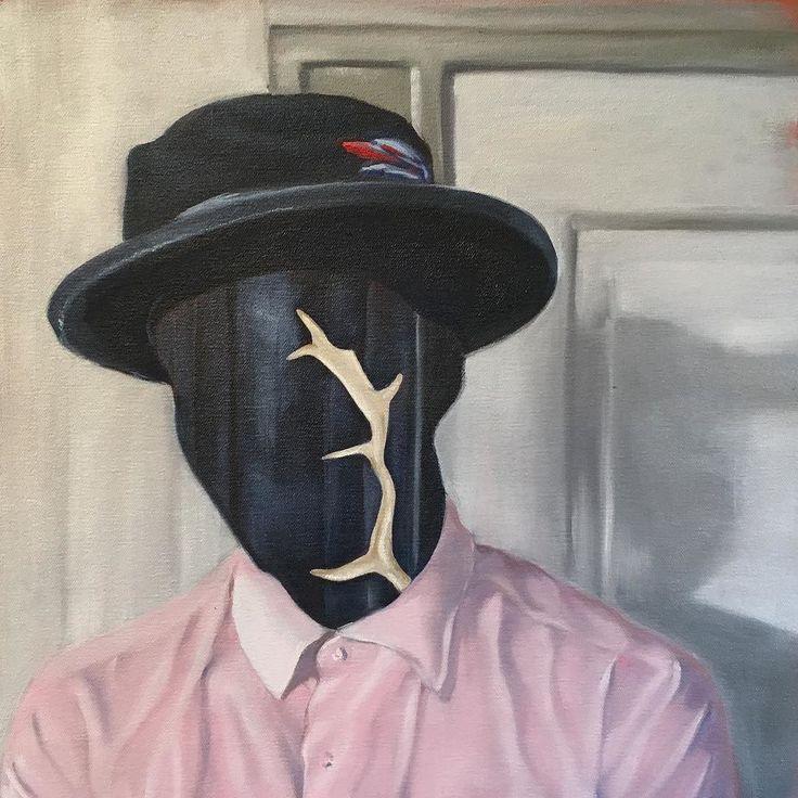 Portrait of a man.. #oiloncanvas