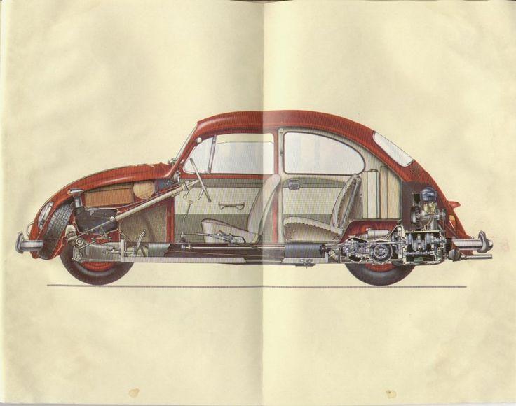 VW Beetle Cutaway, 1960's