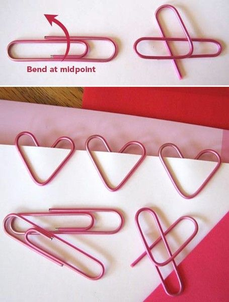 Paper clip hearts Clicked on link but couldn't find this on that page, but it looks like all you need is the picture to make the heart anyway :)