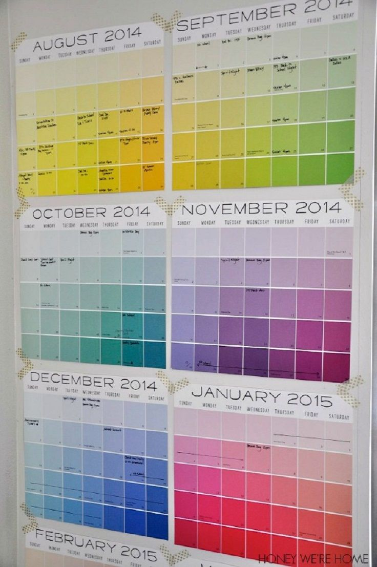 Diy Quote Calendar : Great diy organized wall calendar back to school