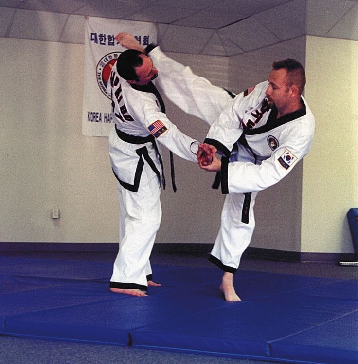 Hapkido power kick. Hapkido, like all martial arts, (or any art for that matter) has to do with personal expression and personal self-discovery. By putting your own personality and spirit into the techniques you make the techniques your own.