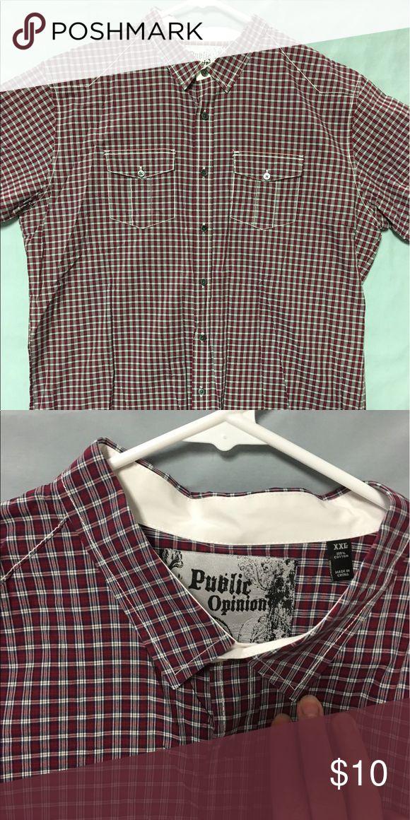 Public opinion short sleeved shirt Public opinion short sleeved shirt. public opinion Shirts Casual Button Down Shirts