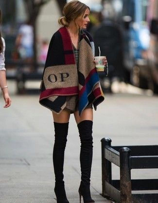 olivia palermo plaid top and skirt outfit - Google Search