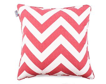 We Love Beds Zig Zag Red Pillow Case -    Edit Listing  - Etsy