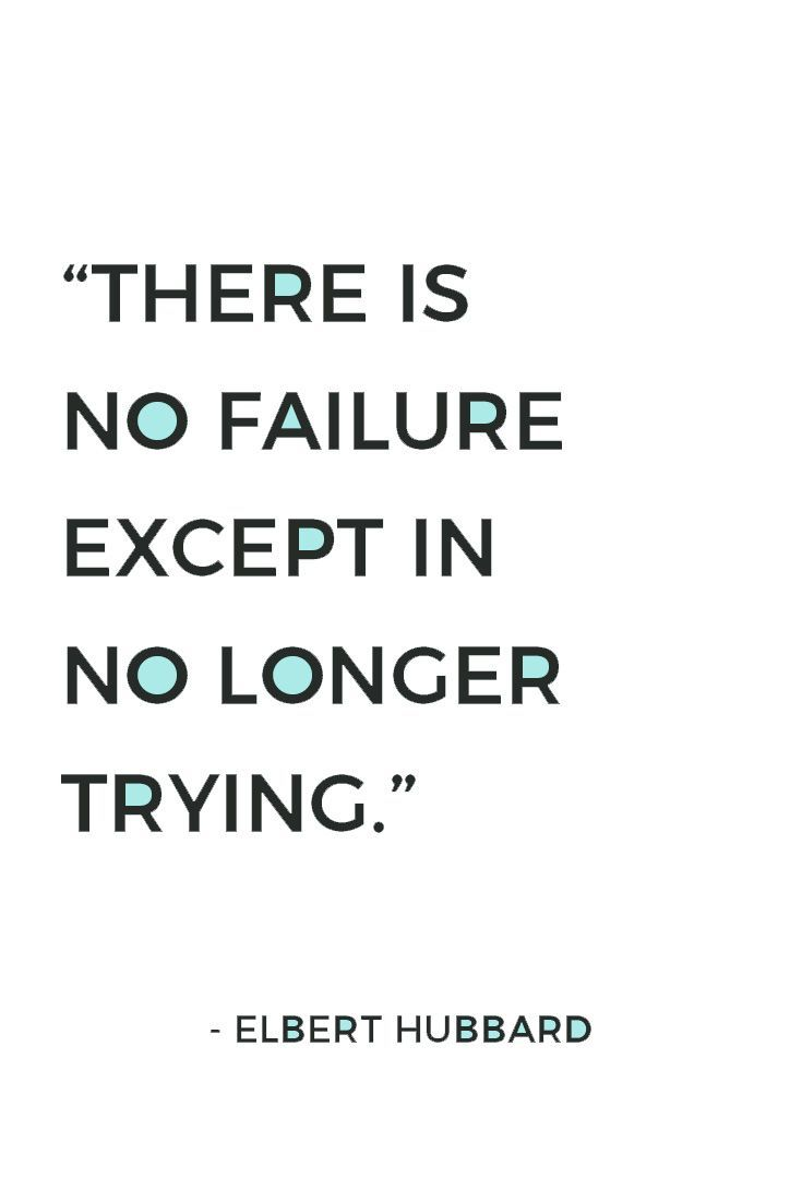 Do you feel like a failure? No matter what you or anyone says, you are only a failure when you stop trying. Keep going, never give up! Here are 45 uplifting never give up quotes just like this one. Plus, get 10 FREE shareable never give up quotes for social media, perfectly sized for Facebook/Twitter + Instagram.