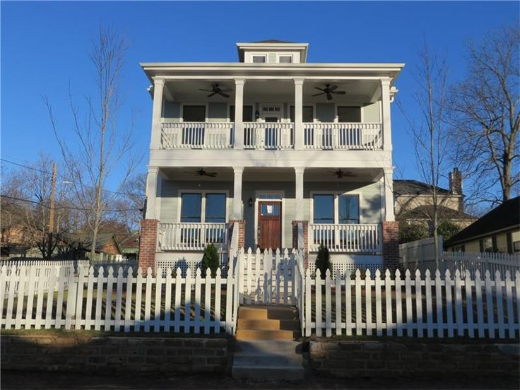 Photo Of A New Two Story Craftsman Style Home For Sale In Atlanta GAs Grant Park Neighborhood Shows Picket Fence With
